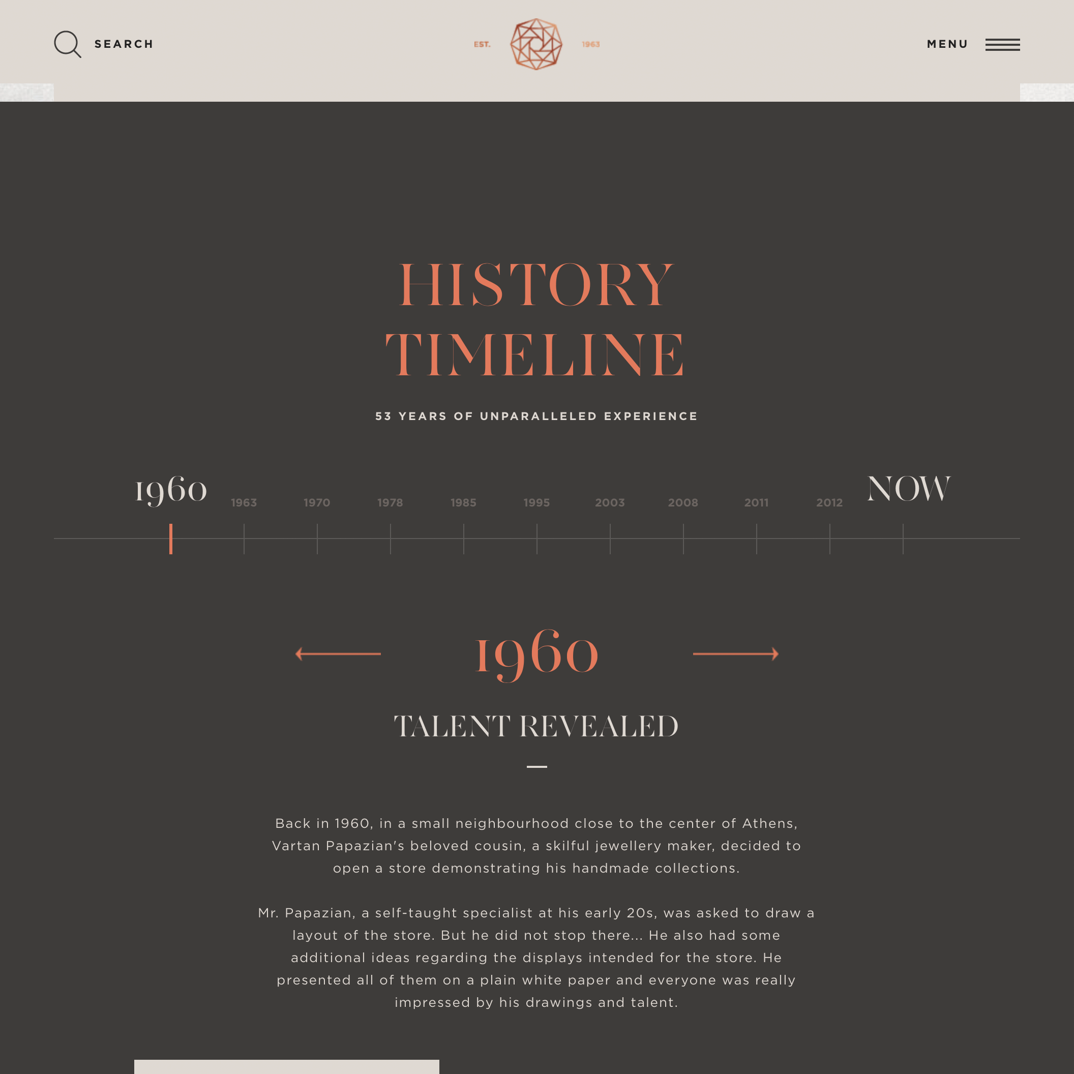 Papazian Timeline Design Web Layout Design Web Design