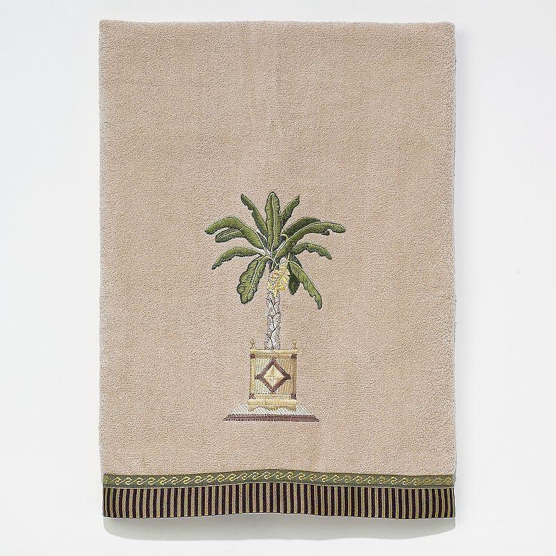 Avanti Banana Palm Bath Towel, Beig/Green (Beig/Khaki)