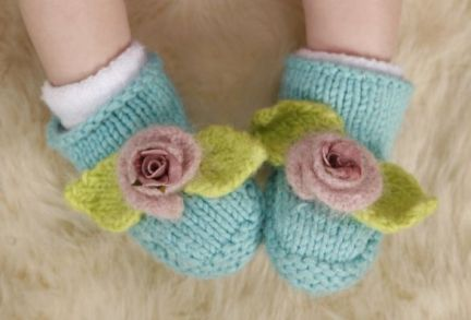 Baby Booties Pic 2 smaller by adhdknitter, via Flickr | Knitting for ...