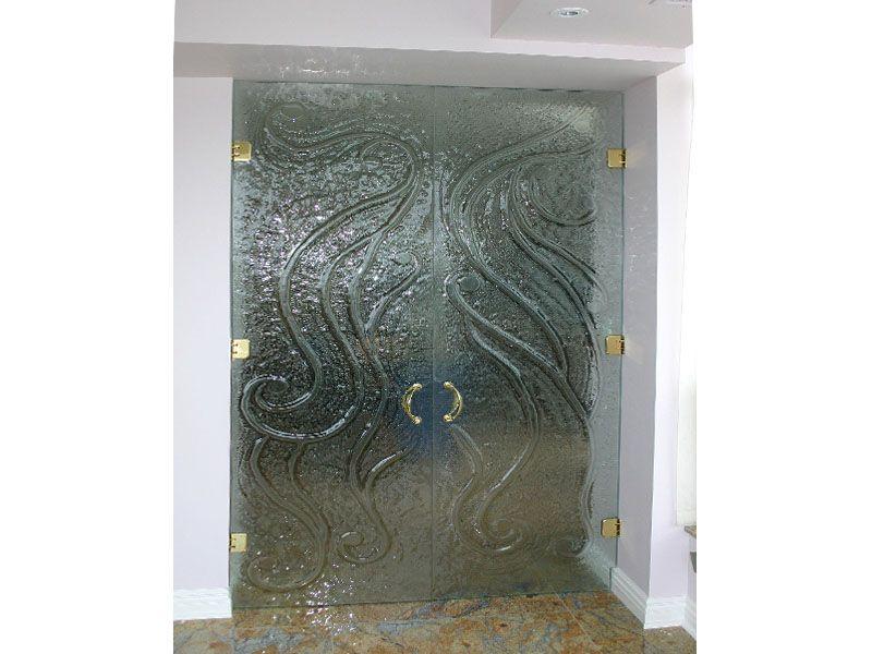 glass door texture. Textured, Decorative, Frameless Glass Door. Www.cbdglass.com #glassart # Door Texture