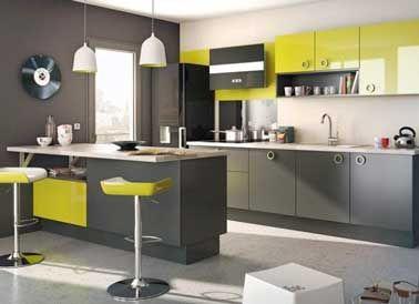 Quelle couleur mettre avec une cuisine grise ? | Cuisines grises ...