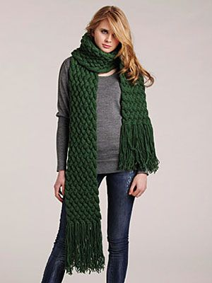 Diy Style Giant Cable Scarf Scarves Stitch And Cable