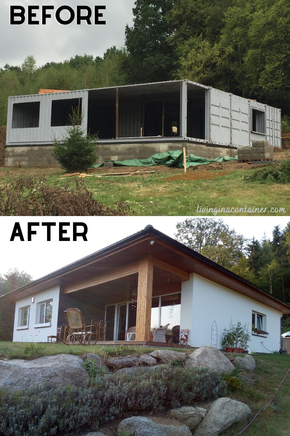 Successful Home Conversion of Shipping Containers in the Czech Republic – Living in a Container