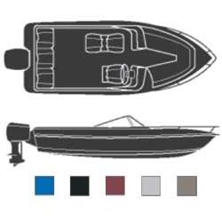 Discover V Hulls Inboard Outboard Road Ready Cotton Covers Cover 216l 96 Beam Width Gray Boat Covers Boat Boat Stuff
