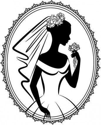 Bride Silhouette 05 Vector Bride Silhouette Silhouette Stencil Bride And Groom Silhouette