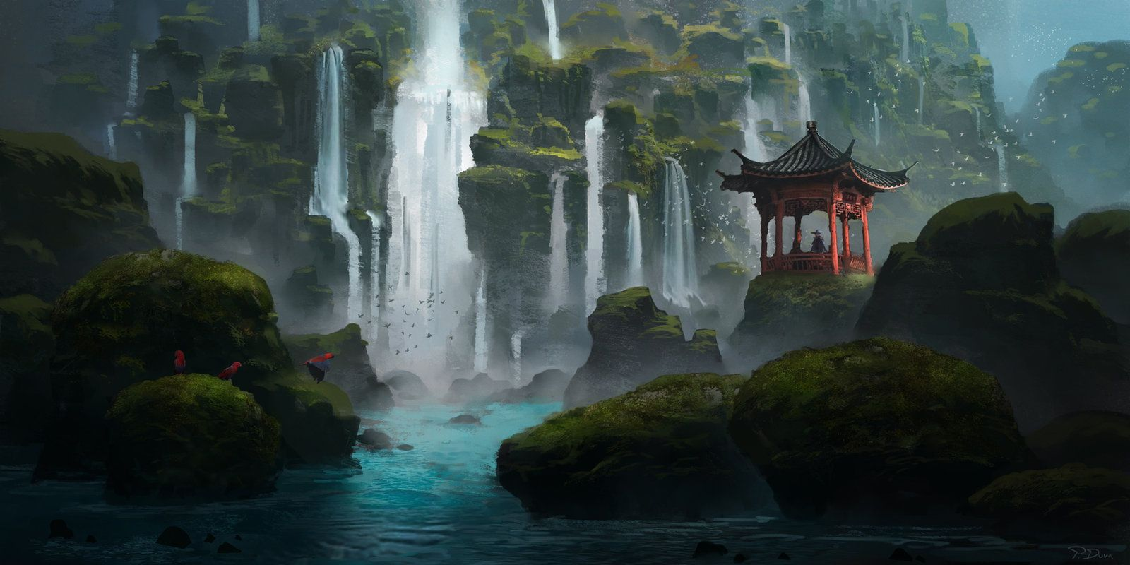 Mrsuicidesheep Wallpaper Fall Island Of A Thousand Waterfalls By Threedeee Forest