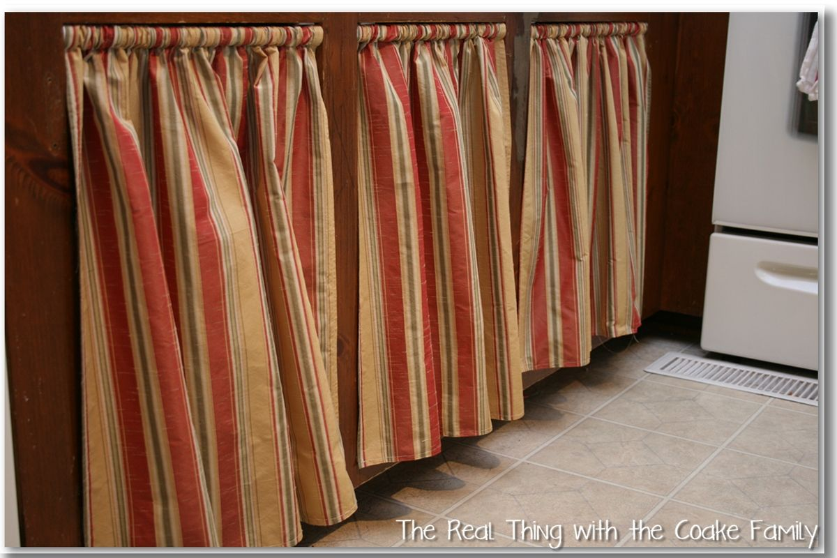 Kitchen Cabinet Ideas Curtains For Cabinet Doors No Sew
