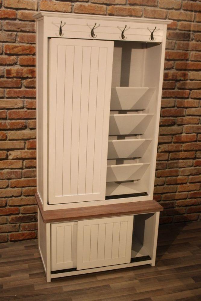 Garderobe Rem Schuhschrank Garderobenschrank Landhaus Garderobe