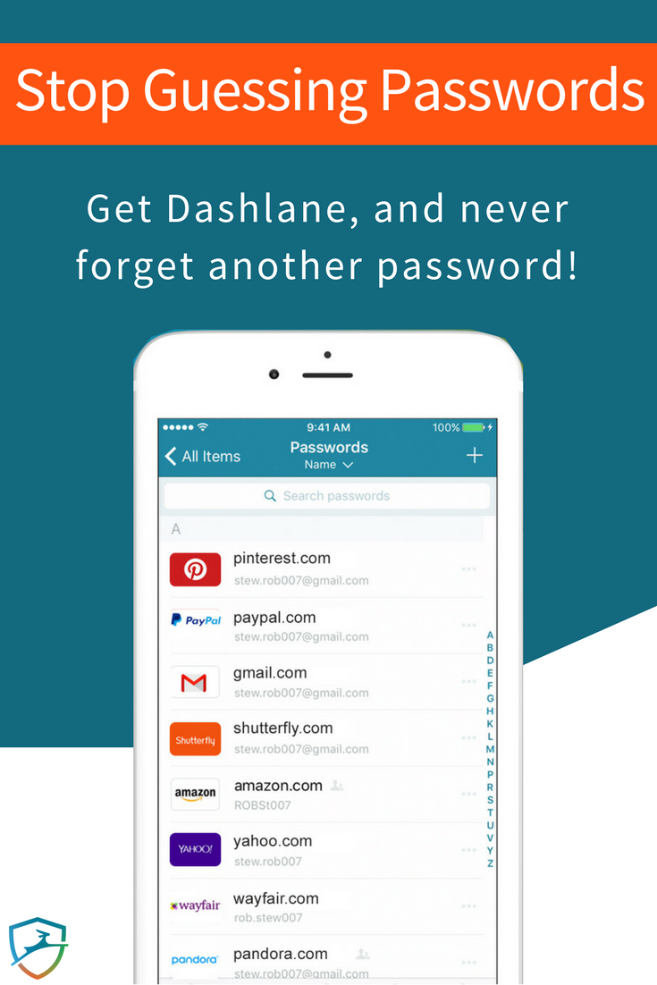 Still guessing passwords? Join millions and get Dashlane