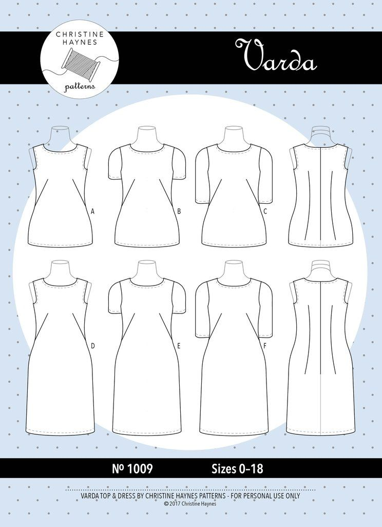 Varda Dress and Top Sewing Pattern. Website has good pics of ...
