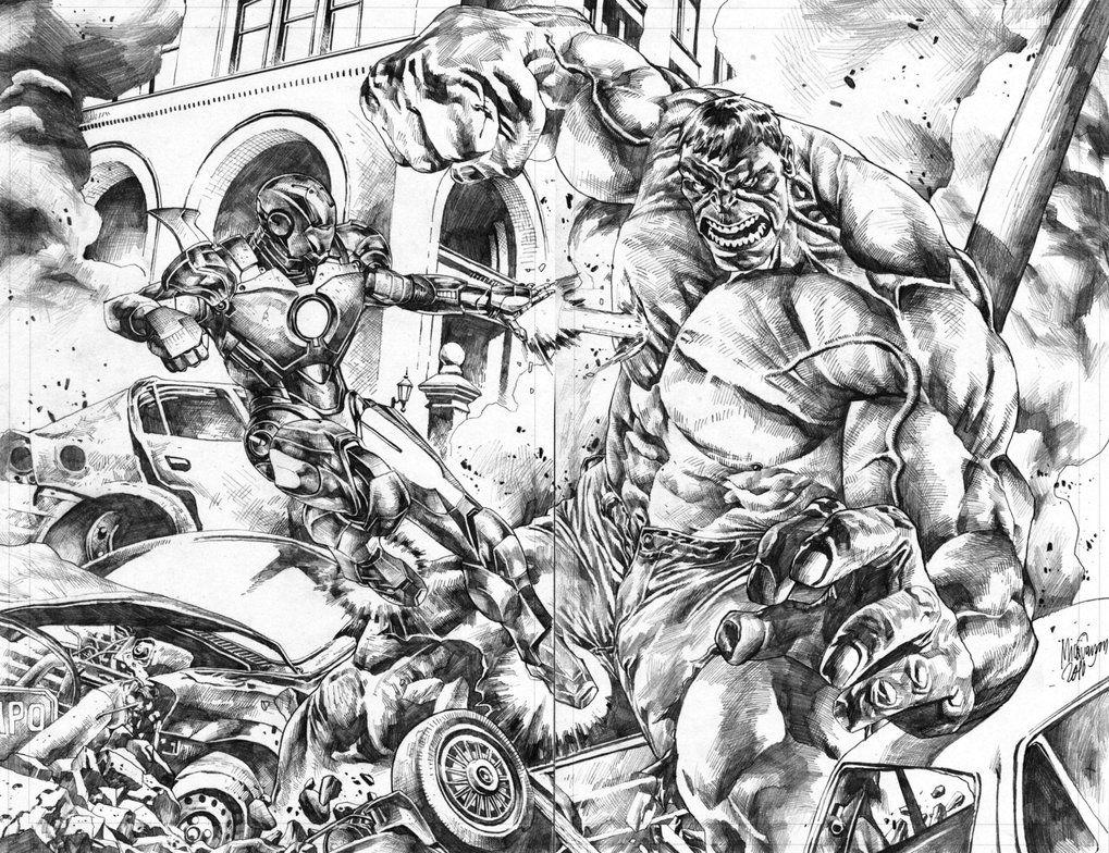 Ironman vs. Hulk commission by MicoSuayan on DeviantArt ...