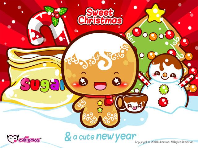 Kawaii Christmas Wallpaper Cute Christmas Backgrounds Kawaii Christmas Kawaii Wallpaper