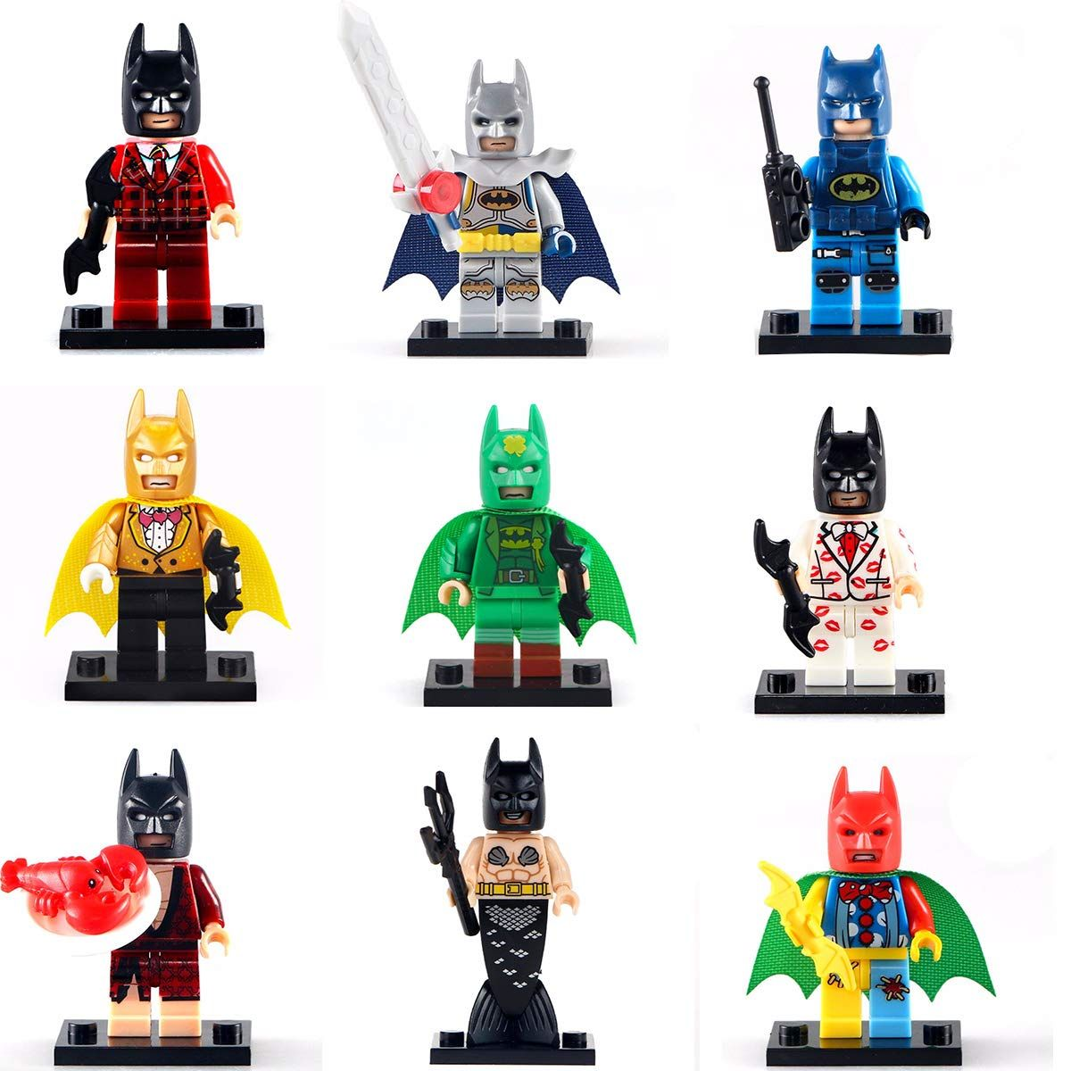 Kaizoot 9x Piece Minifigures Set Batman