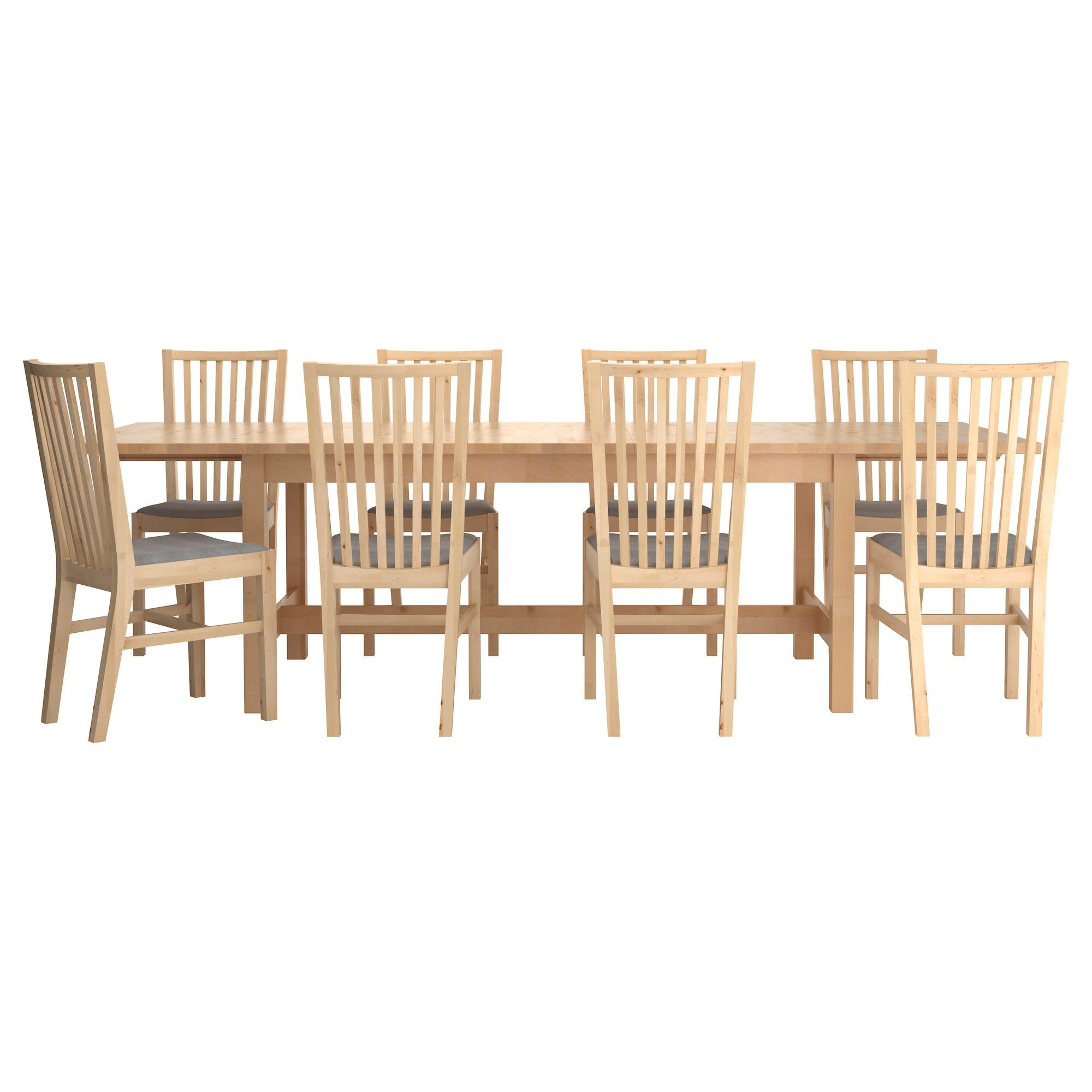 Ikea Dining Suites Norden NorrnÄs Table And 8 Chairs Ikea Norden Dining