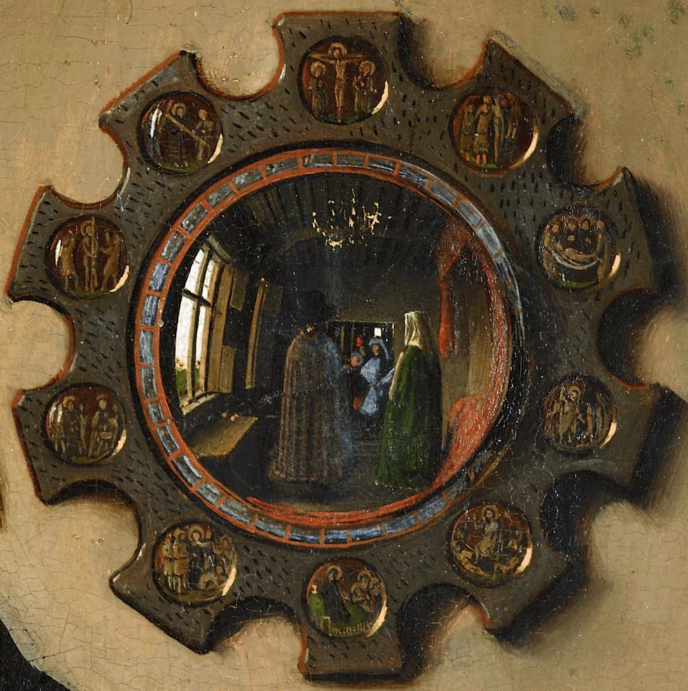 johannes van eyck les poux arnolfini 1432 huile sur bois d tail miroir analyse pinterest. Black Bedroom Furniture Sets. Home Design Ideas