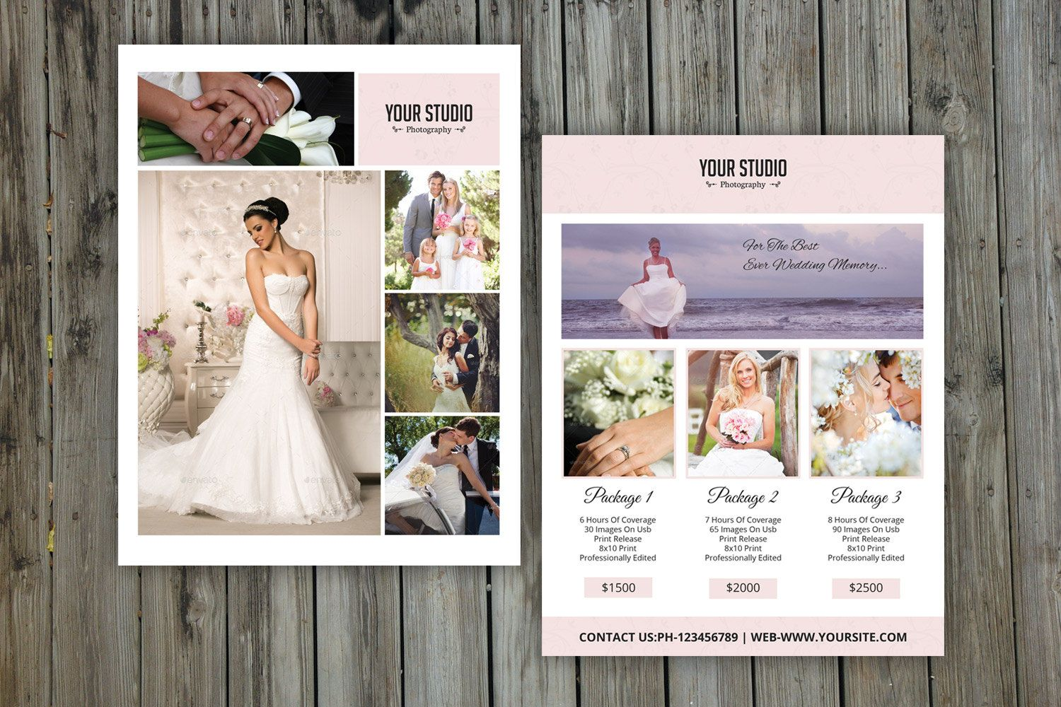 Photographer Price List Template Wedding Pricing Package Guide Photography Marketing Board Instant