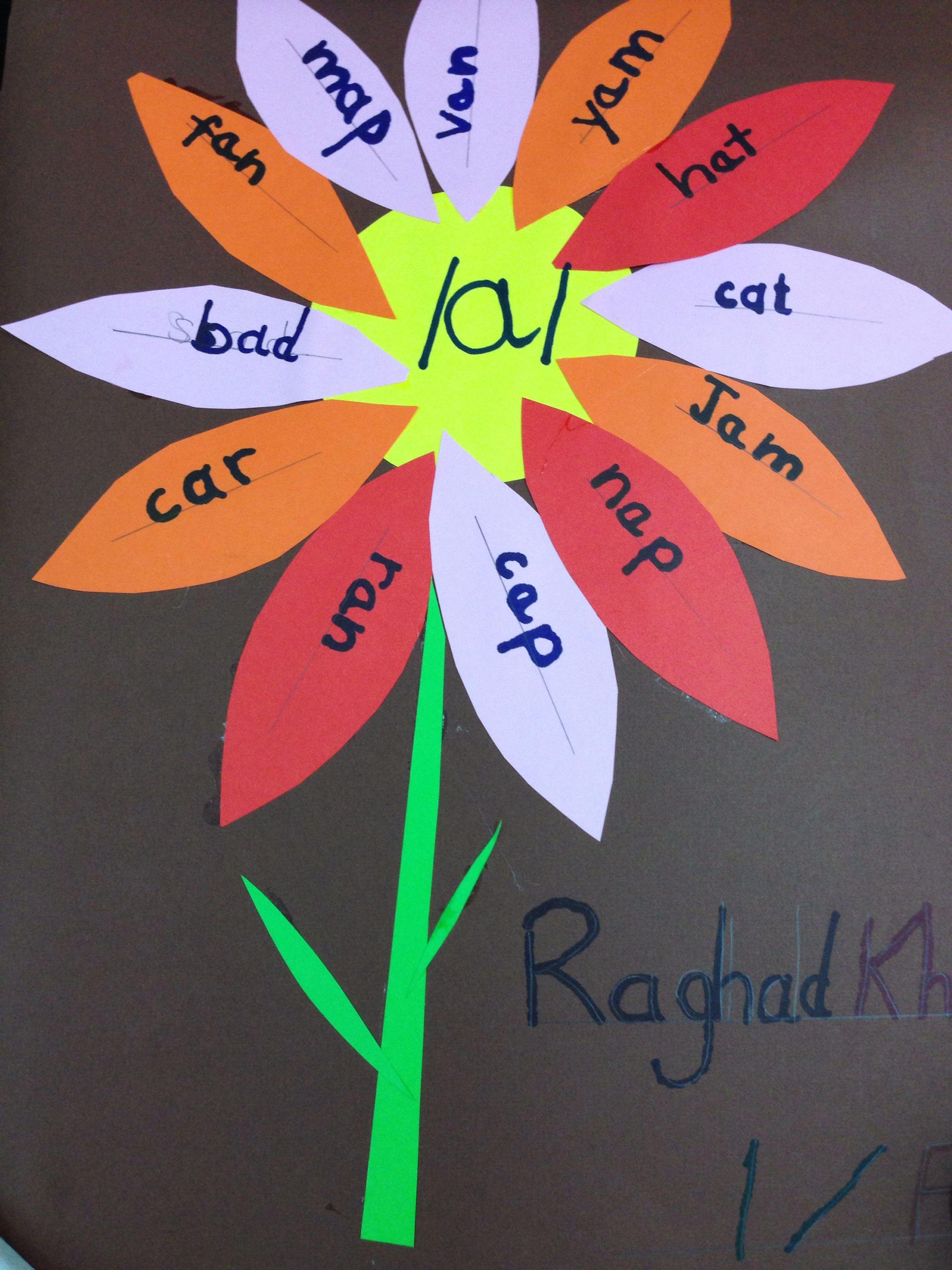 Short A Sound Words Flower Grade 1