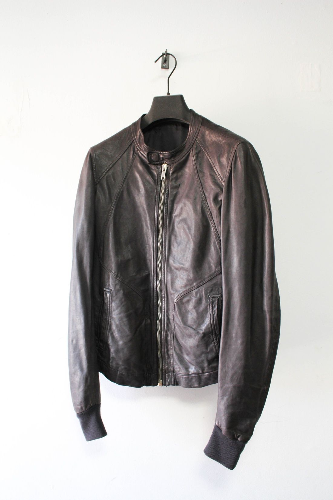 Rick Owens Ss10 Leather Intarsia Jacket Size S 386
