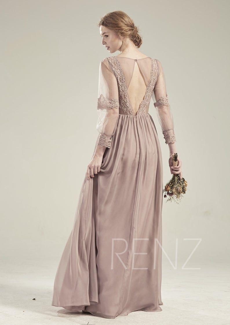 Long Sleeve Boho Bridesmaid Dresses