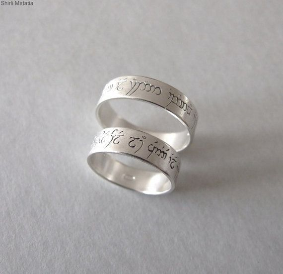 Two Silver Elven Love Rings Wedding Bands Lord Of Ther Jewelry Engagement