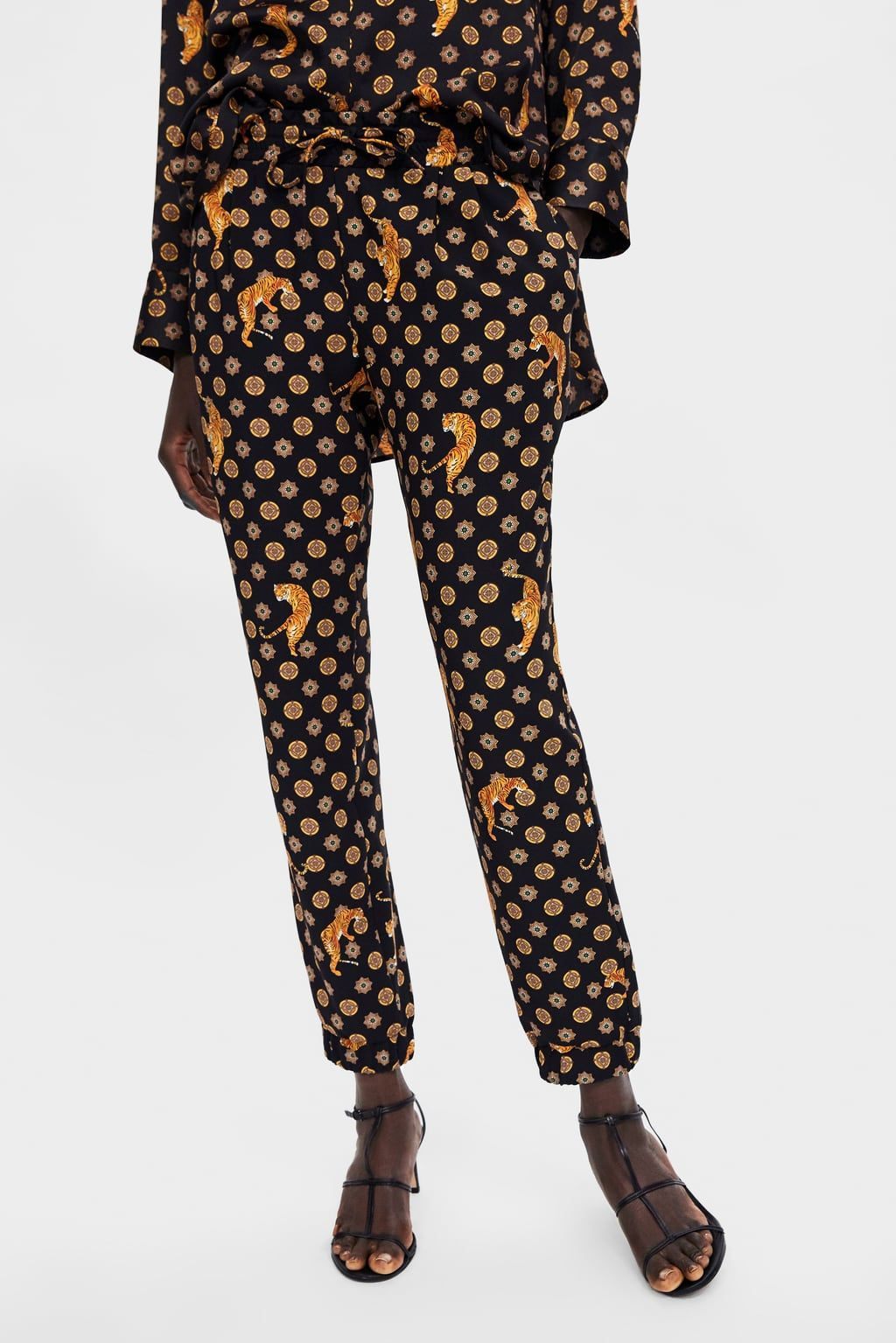 3668c02213eb4a Image 2 of TIGER PRINTED PANTS from Zara | things i want but am too ...