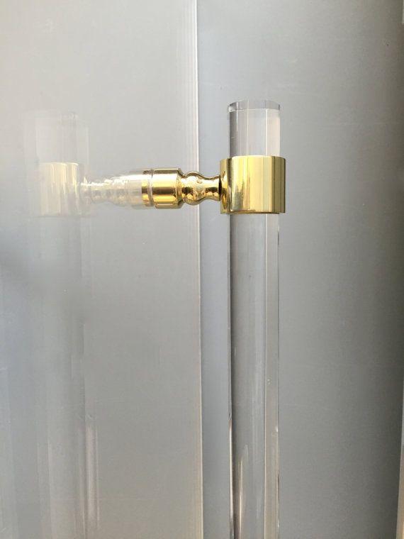 Lucite Shower Door Handles Polished Brass Satin Brass Shower Door Pulls Bathroom