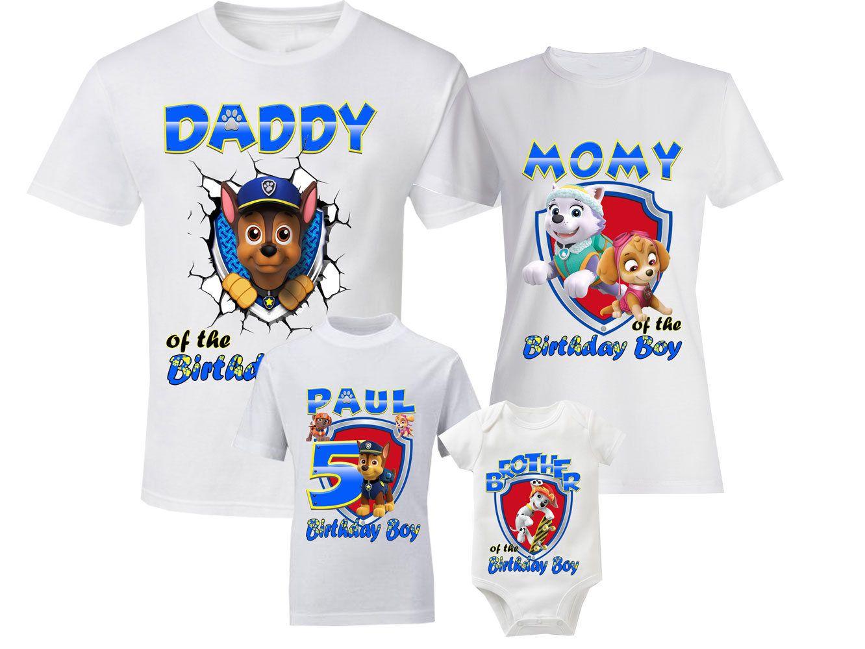 ebcf56cf8ae31 Birthday Paw Patrol Shirts Custom Family Shirts Personalized Paw ...