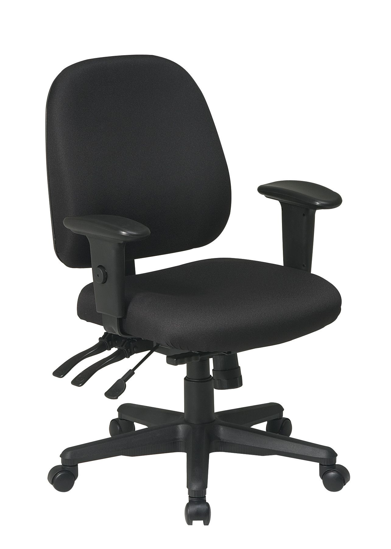 Office Star Ergonomic Mid Back Chair With Arms Reviews Wayfair