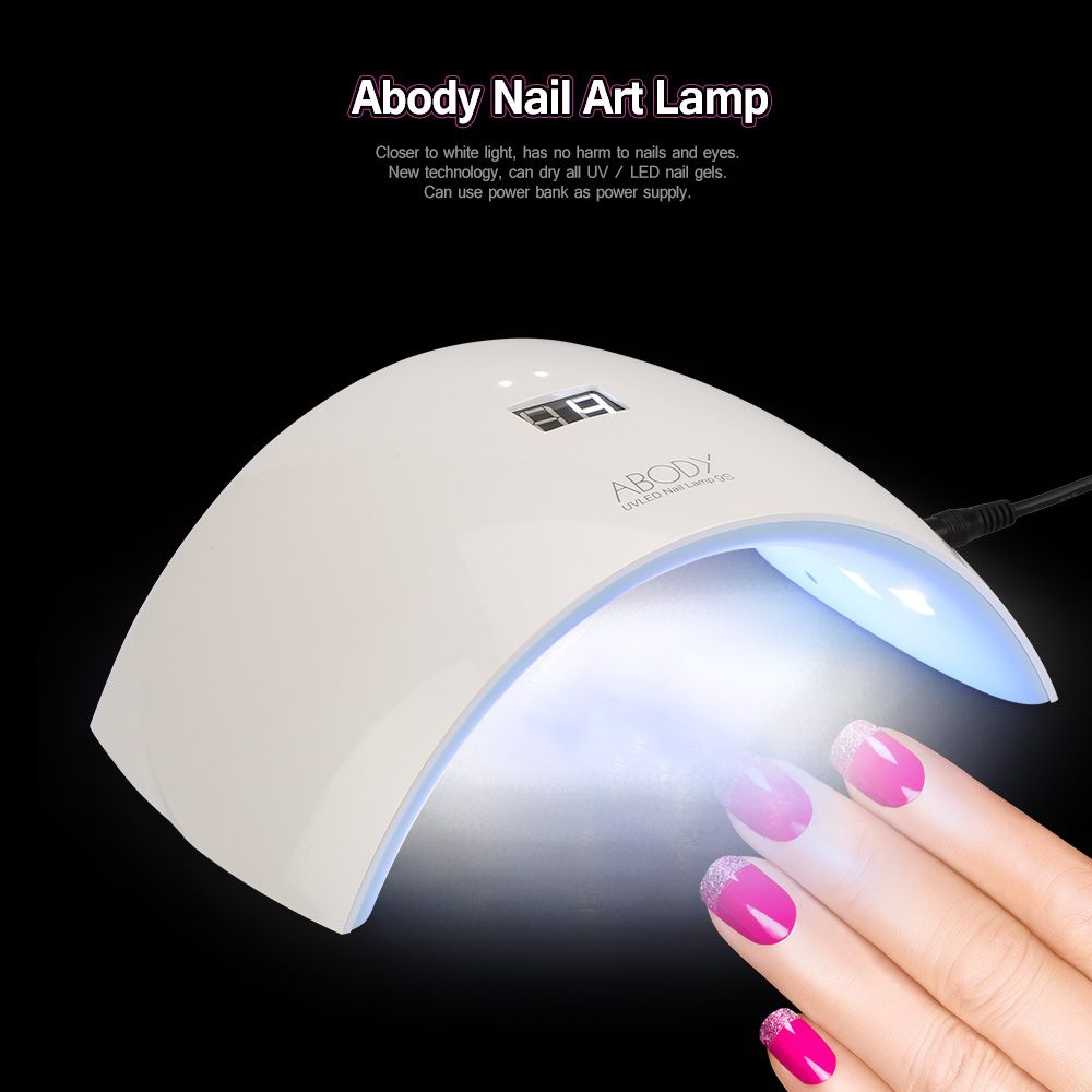 Abody sun9c 24w led uv lamp nail dryer 30s60s timer curing for abody nail led uv nail light timer nail dryer curing for shellac and other gel white light painting salon tools for fingernail toenail parisarafo Choice Image