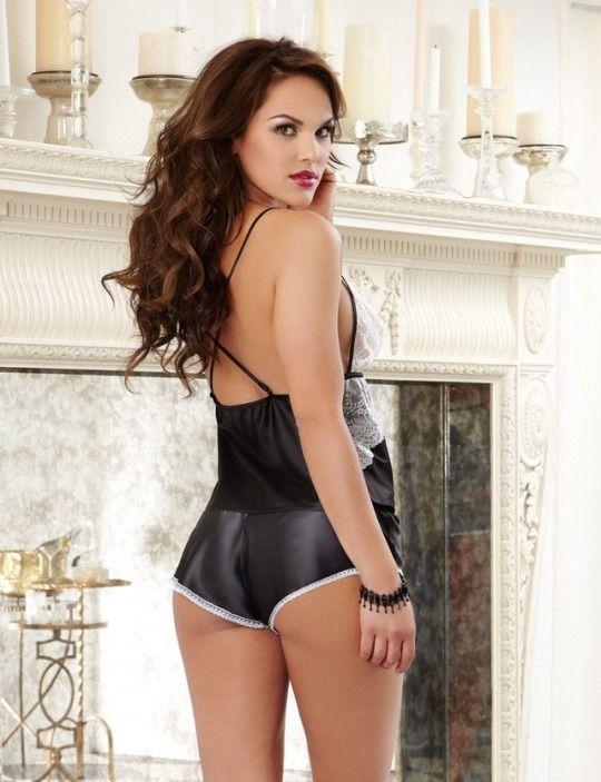 Bbw wife love the silk satin panties