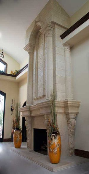 Grand Tradition Custom Overmantel Fireplaces | Cast Stone ...