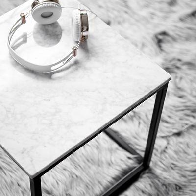 Beistelltisch Marmor beistelltisch marmor l 40 x b 40 x h 40cm schwarz couchtisch