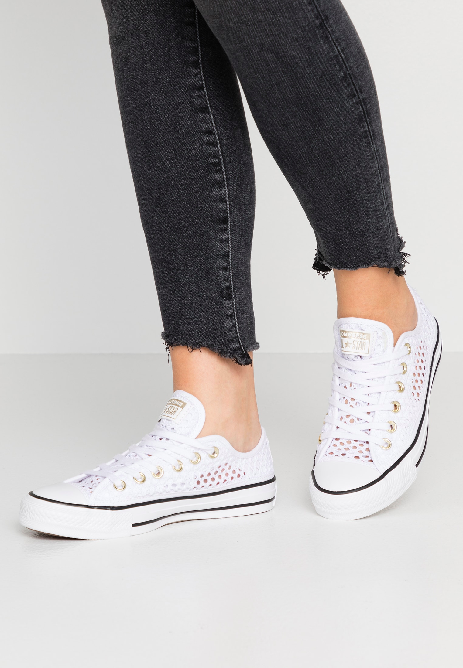 CHUCK TAYLOR - Baskets basses - white/black @ ZALANDO.FR ...