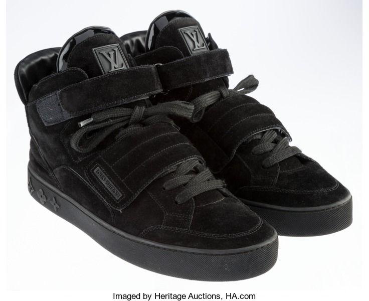 Post War Contemporary Contemporary Kanye West X Louis Vuitton Jasper Black Size 7 1 2 Original Box Deadstock Total 2 Items