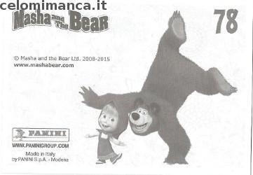 Masha and the bear - Masha e Orso: Retro Figurina n. 78 -