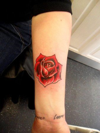 Red Rose On Arm Small Rose Tattoo Rose Tattoos For Women Ankle Tattoos For Women