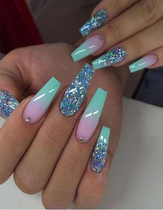 Enfriar Disenos De Unas Largas Con Estrellada Buscar En 2020 In 2020 Ombre Nail Designs Cute Acrylic Nail Designs Fashion Nails
