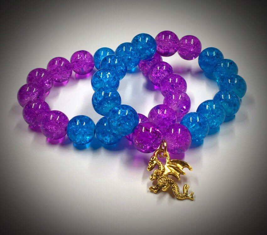 Disney Descendants 3 Mal/Hades inspired bracelet set #descendants3
