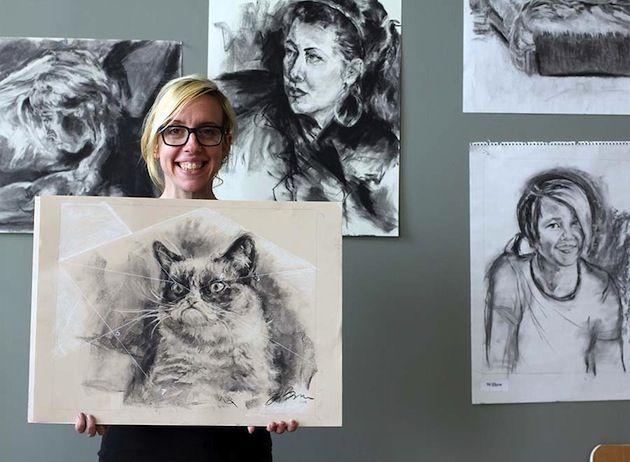 Grumpy Cat Art Project