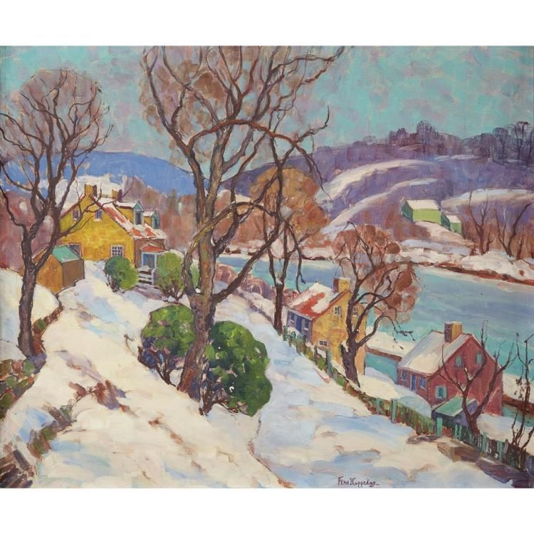 Fern Isabel Coppedge American 1883 1951 The Road To Lum Naive Art Lovers Art Impressionism Painting