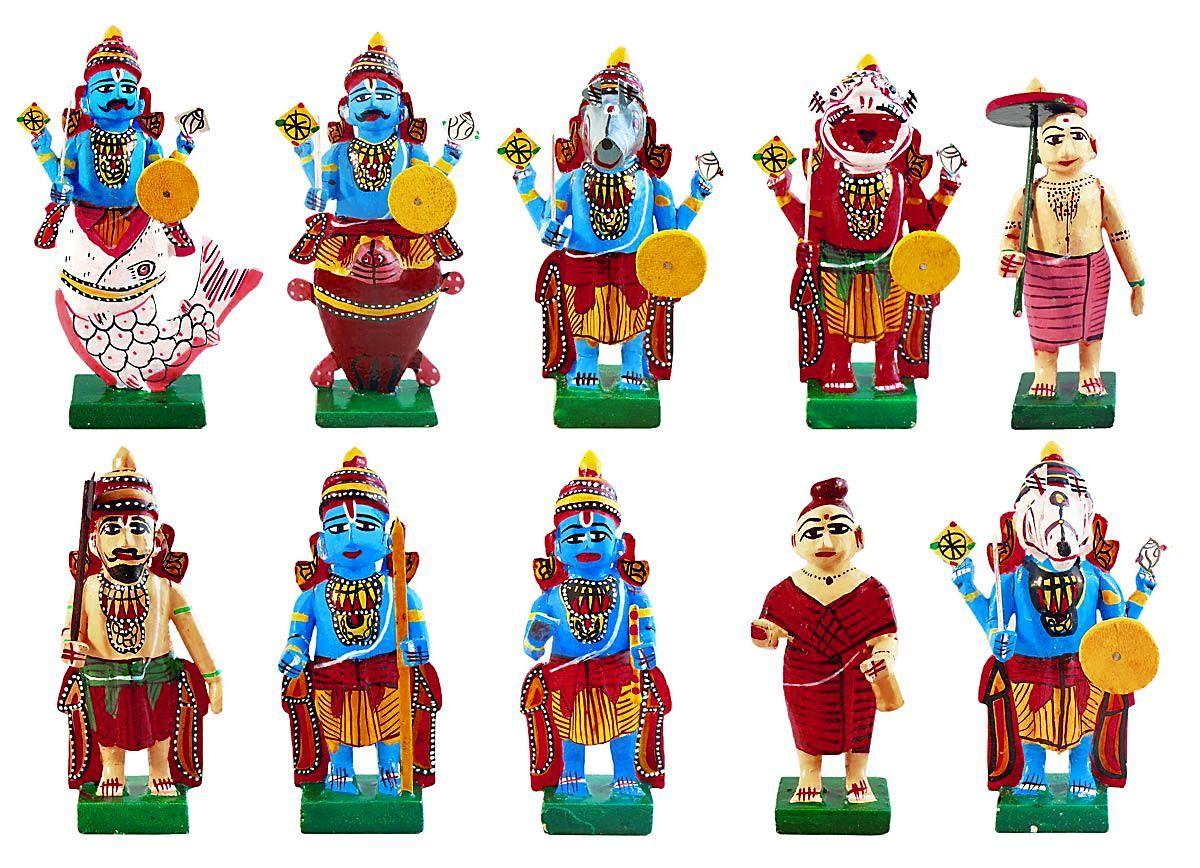 Kondapalli toys images  Wooden Dashavatar  Kondapalli Dolls in   God  Pinterest