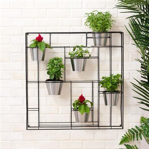 vertical planter with pots kmart office makeover. Black Bedroom Furniture Sets. Home Design Ideas