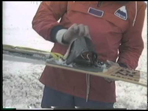 Past - Jake Burton with his aluminium fin snowboard design. (burtonsnowboards, 1981)