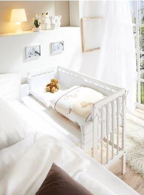 Białe łóżeczko Dostawne Dostawka Do łóżka Rodziców Kids