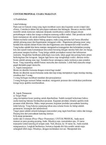 25 Contoh Proposal Usaha Bisnis Yang Baik Dan Benar Lengkap Doc Proposal Dana Pensiun
