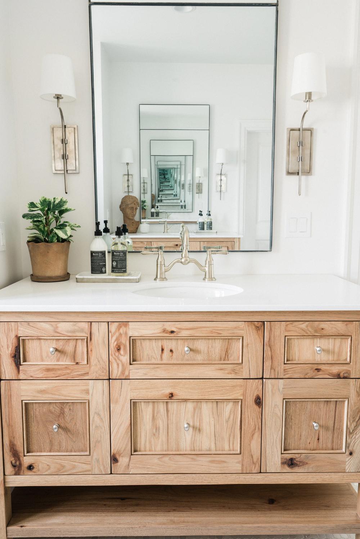 17++ Bathroom wall cabinet oak finish model