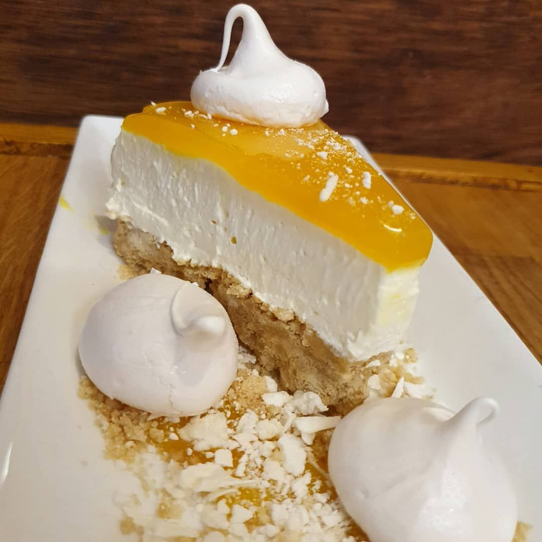 Here it is! -  Lemon Meringue Cheesecake  .... - Served on the Sunday Menu Today! @thebandcderby -  2 Courses only 12.50! -   Congratulations to @bellncastle98 For winning the vote! Get in touch to recieve your free slice  - -  Please check out our recent feedback! - - - - - @yngcateringservices Get in touch to find out how we can help you! - @yngcateringservices - #chefstagram #hardworkpaysoff #food #foodporn #artofplating #yum #foodie #feedyoursoul #foodlover #truecooks #forkyeah #bestfoodworl #lemonmeringuecheesecake