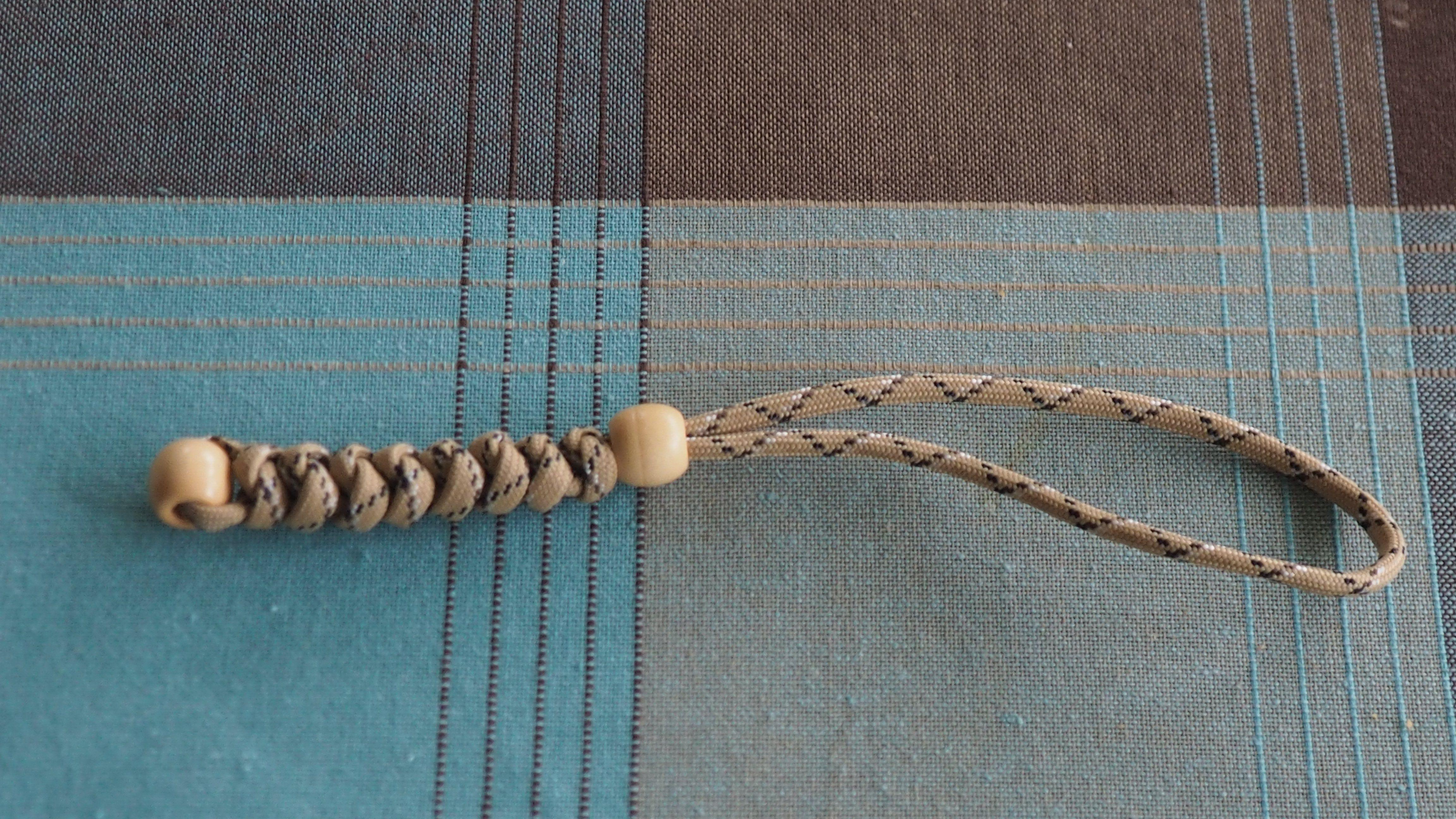 Tan Lanyard with beads