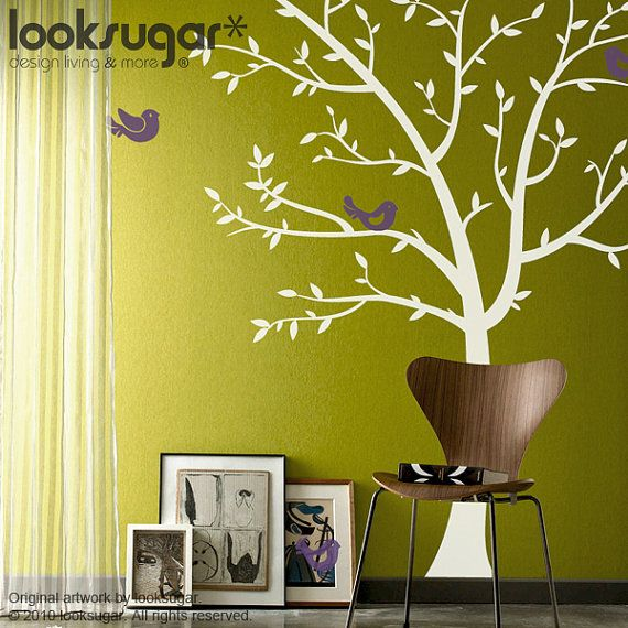 Wall Decal White Tree - Tree Decal - Tree Wall Stickers - Nursery ...