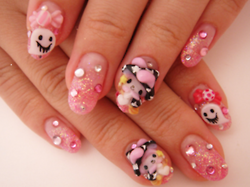 Adorable Halloween themed Sanrio nails | Nails, Nail art ...